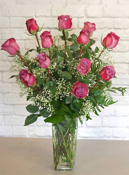 One Dozen Deluxe Lavender Roses in Omaha NE, Piccolo's Florist and Gifts