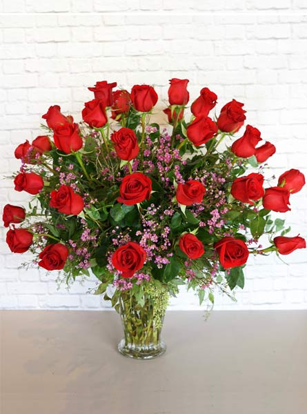 Three Dozen Premium Red Roses in Manchester NH, Chalifour's Flowers
