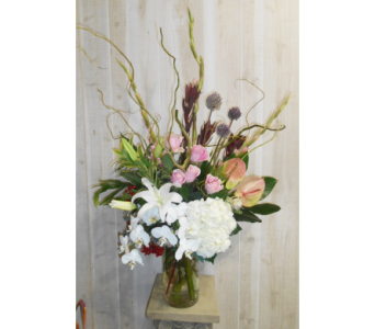 The Pondering Bouquet in Dallas TX, Petals & Stems Florist