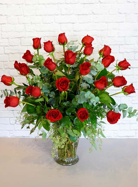 Two Dozen Premium Red Roses in Raleigh NC, Fallon's Flowers