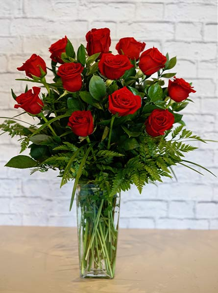 One Dozen Deluxe Red Roses in Smithtown NY, James Cress Florist