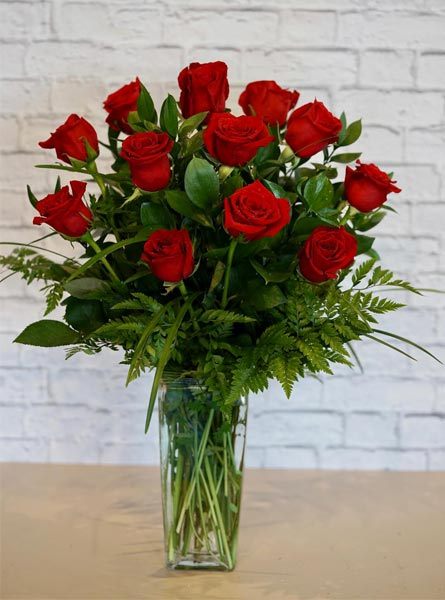 One Dozen Deluxe Red Roses in Clarks Summit PA, White's Country Floral