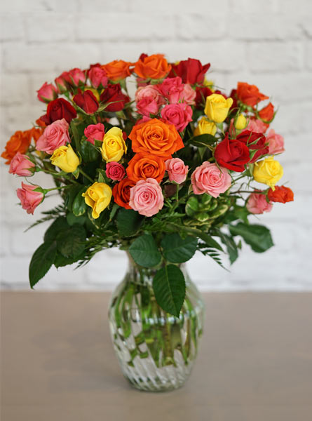 A Spray of Roses in Winston-Salem NC, George K. Walker Florist
