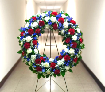 30 INCH PATRIOTS WREATH in Arlington VA, Twin Towers Florist
