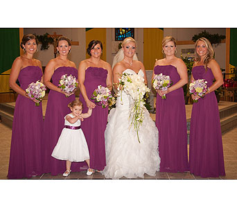 Wedding Party in Metairie LA, Villere's Florist