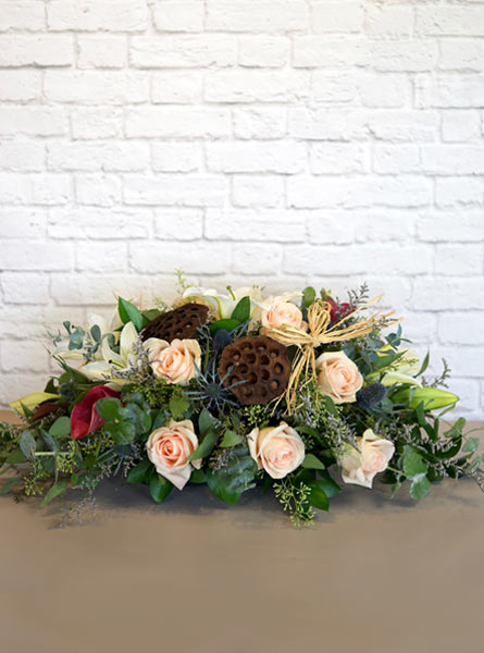 Falling for Foliage Centerpiece in Smithtown NY, James Cress Florist