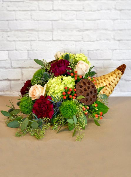 Woodland Harvest Cornucopia  in Smithtown NY, James Cress Florist