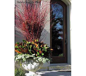 Deluxe Upright Plus Holiday Planter in Etobicoke ON, VANDERFLEET Flowers