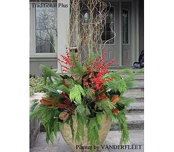 Traditional Plus Holiday Planter in Etobicoke ON, VANDERFLEET Flowers