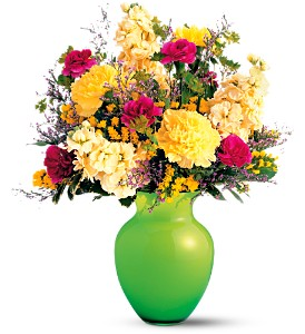 Teleflora's Breath of Spring Bouquet in Muskegon MI, Barry's Flower Shop