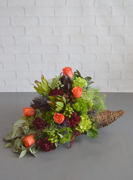 Woodland Harvest Cornucopia in Raleigh NC, Fallons Creative Flowers