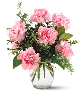 Teleflora's Pink Notion Vase in Merced CA, A Blooming Affair Floral & Gifts