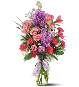 Teleflora's Fragrance Vase in Beaumont CA, Oak Valley Florist