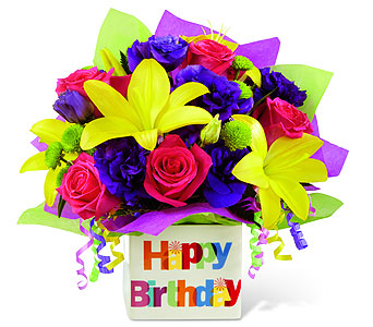 Happy Birthday Bouquet in Detroit and St. Clair Shores MI, Conner Park Florist