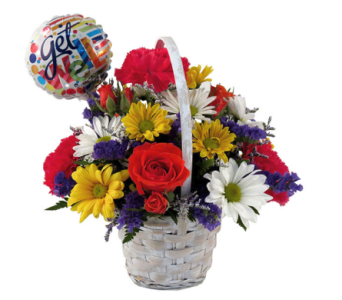 Get Well Soon Basket Bouquet in Southfield MI, Thrifty Florist