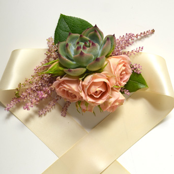 Garden Corsage in Dallas TX, Dr Delphinium Designs & Events