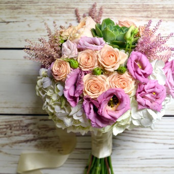 Blush Hand-Tied Bouquet in Dallas TX, Dr Delphinium Designs & Events