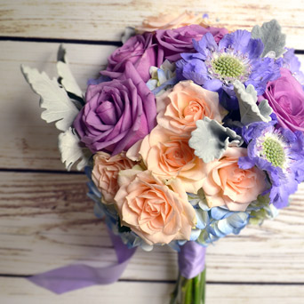 Darla Hand-Tied Bouquet in Dallas TX, Dr Delphinium Designs & Events