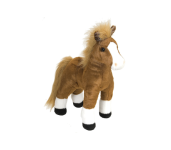 Brown Standing Horse Stuffed Animal - 12