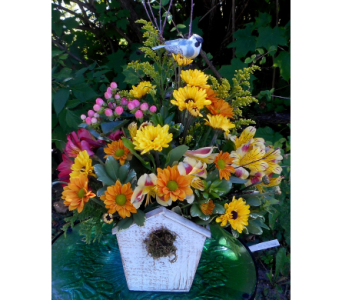 Fall Bird House in Skowhegan ME, Boynton's Greenhouses, Inc.