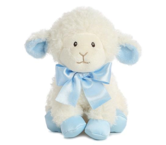 Blessing Lamb Blue 8in in Ajax ON, Reed's Florist Ltd