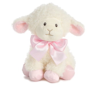 Blessing Lamb Pink 8in in Ajax ON, Reed's Florist Ltd