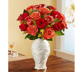 Autumn Sunset Bouquet in Lenox� Vase in Watertown CT, Agnew Florist