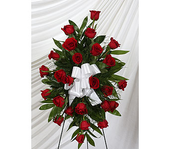 Funeral Spray 25 Red Roses in Southampton PA, Domenic Graziano Flowers