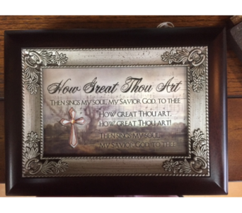 Music Box- How Great Thou Art in Brownsburg IN, Queen Anne's Lace Flowers & Gifts