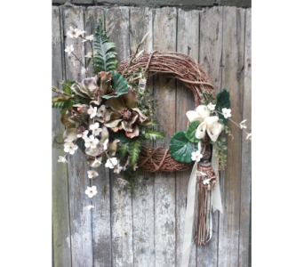 Natural Grape Vine Silk Wreath with Tassel in Ambridge PA, Heritage Floral Shoppe