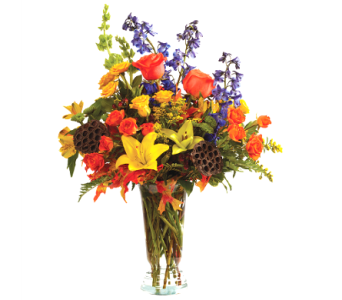 Autumn Garden Vase in Big Rapids, Cadillac, Reed City and Canadian Lakes MI, Patterson's Flowers, Inc.