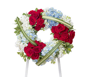 Honor Wreath in Chesterton IN, The Flower Cart, Inc