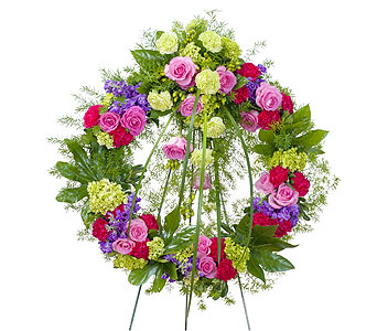 Forever Cherished Wreath in North Babylon NY, Towers Flowers