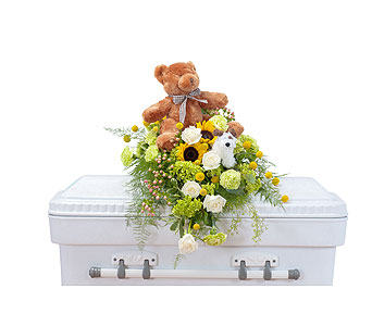 Tiny Angels Casket Spray in Holladay UT, Brown Floral