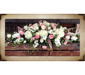 Delicate Angel Casket Spray in Yorba Linda CA, Garden Gate