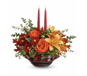 Autumn Gathering Centerpiece in Concord CA, Vallejo City Floral Co