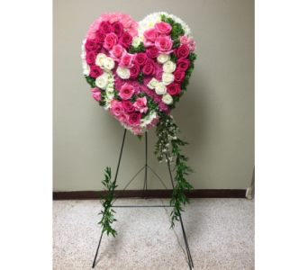 Graceful Tribute Heart in Clearwater FL, Hassell Florist