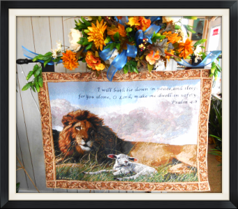 Lion & Lamb Tapestry in Tyler TX, The Flower Box