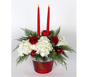 2 Candle Centerpiece in Southampton PA, Domenic Graziano Flowers