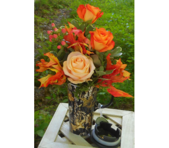 Mossy Oak Cup with Roses in Skowhegan ME, Boynton's Greenhouses, Inc.