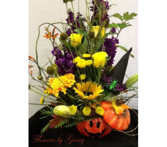 Magical Jack O' Lantern in Brentwood CA, Flowers By Gerry