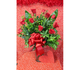 Dozen Red Roses in Kingsville TX, The Flower Box