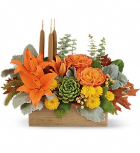 Teleflora's Fall Bamboo Garden in Chesterfield SC, Abbey's Flowers & Gifts