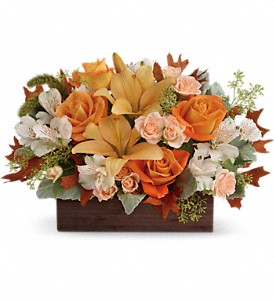 Teleflora's Fall Chic Bouquet in Edmonton AB, Petals On The Trail