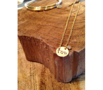 Gamma Phi Circle Necklace in Ft. Collins CO, Palmer Flowers