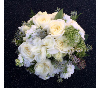 Vintage White Bouquet in Schofield WI, Krueger Floral and Gifts