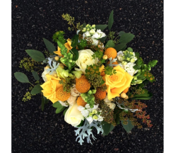 White & Yellow Bridal Bouquet in Schofield WI, Krueger Floral and Gifts
