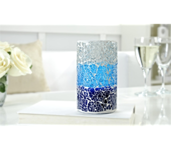 LED Lighted Flameless Scented Candle, Ocean in Toledo OH, Myrtle Flowers & Gifts