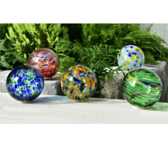LED Lighted Glass Orb Decor in Toledo OH, Myrtle Flowers & Gifts