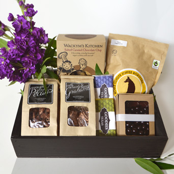 Cocoa for Coffee Gift Basket in Dallas TX, Dr Delphinium Designs & Events